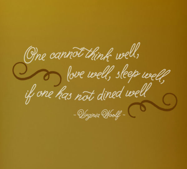 One cannot think Wall Decal