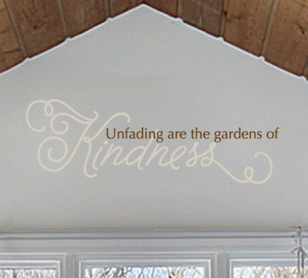 Unfading are the Wall Decal