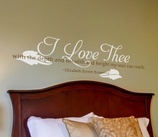 I love thee Wall Decal