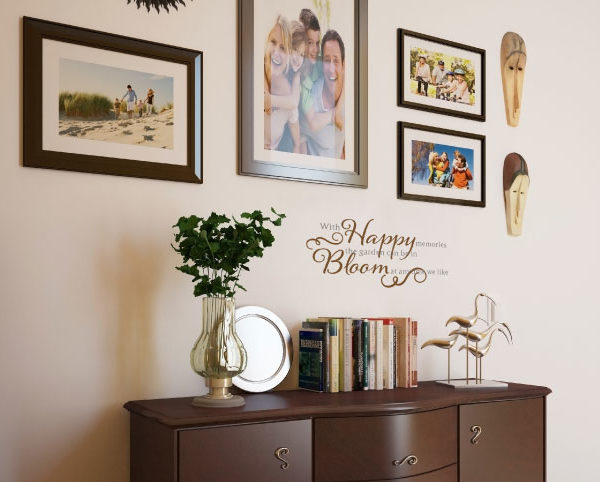 With Happy Memories Wall Decal