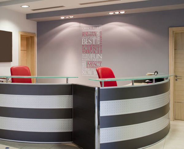 Client Office Rules version 2 Wall Decal