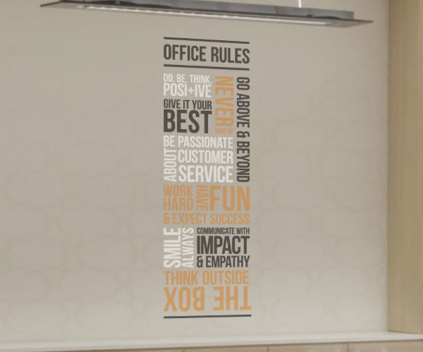 Customer Office Rules version 1 Wall Decal