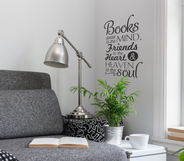 Books speak to Wall Decal
