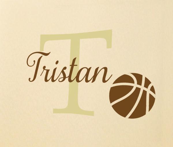 Basketball Name Wall Decal