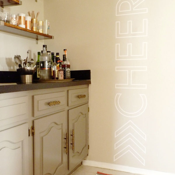 Cheers with Chevron Wall Decal