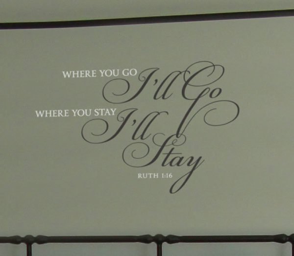 Where you go Wall Decal