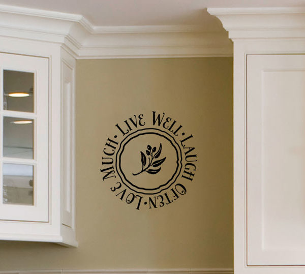 Live well laugh Wall Decal
