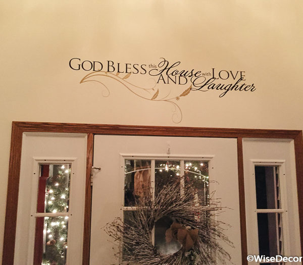 God Bless this Wall Decal