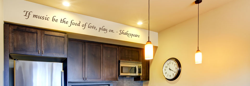 If music be the food of love, play on. Wall Decal
