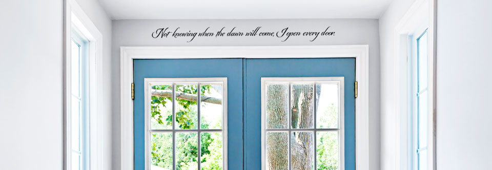 Not knowing when the dawn will come Wall Decal