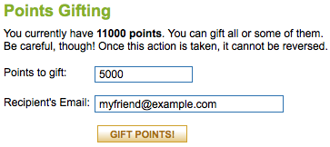 Points Gifting Screenshot