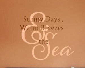 Sunny Days Warm Wall Decal