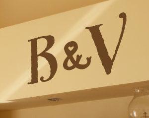 Ampersand Monogram Wall Decal