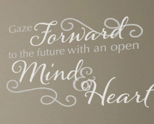 Gaze Forward to Wall Decal