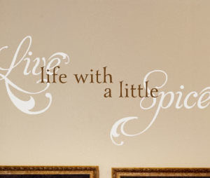 Live life with Wall Decal
