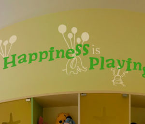 Happiness is Playing Wall Decal