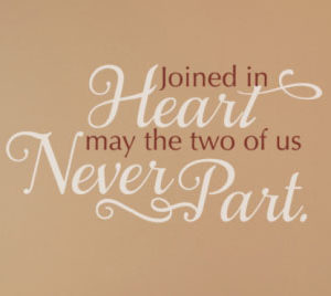 Joined in Heart Wall Decal