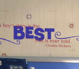 A boy's story Wall Decal