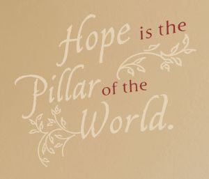 Hope is the Wall Decal