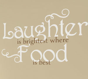 Laughter is brightest Wall Decal