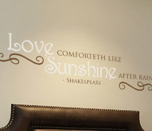 Love comforteth like Wall Decal
