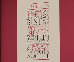 Customer Office Rules version 2 Wall Decal
