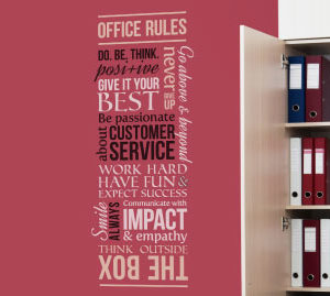 Customer Office Rules version 3 Wall Decal