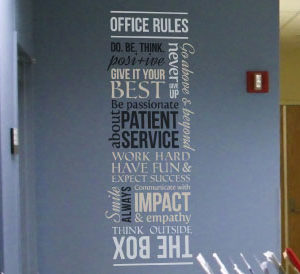 Office Rules Do Wall Decal