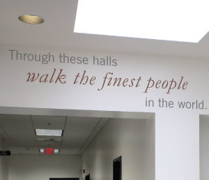 Through these halls Wall Decal